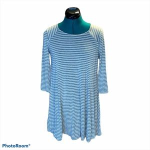 Altar'd State Gray & White Striped Dress Small